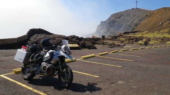 Rode up a volcano