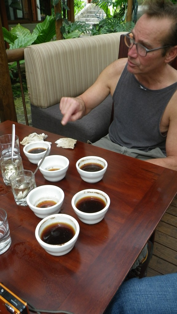 My father, from whom my love of coffee originates, genetically and my memories