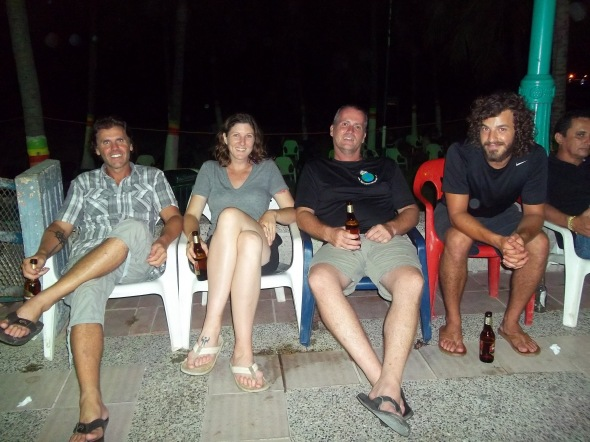 The Venezuelan crew. Left to right: Ryan (Canada), Alison (USA), Paul (England/USA), and some bearded weirdo
