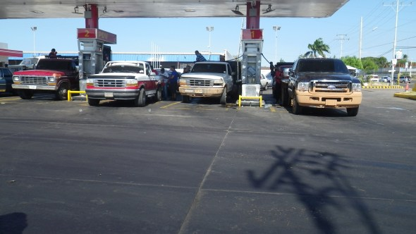 Typical fuel station sight