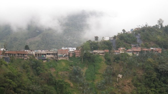 Typical Andean village