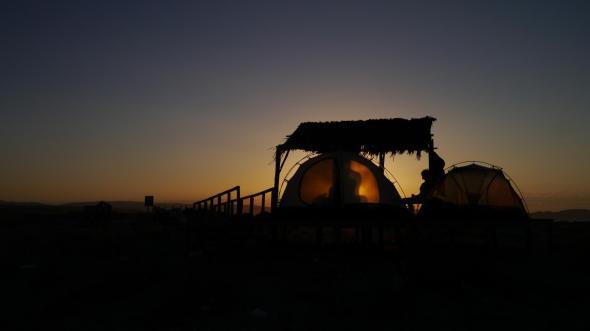 Camping near La Serrana, Chile