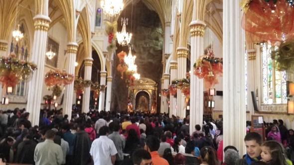 Inside Las Lejas Sanctuary, on a Sunday