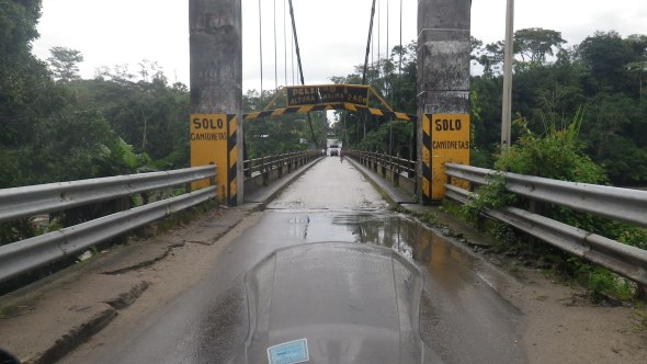 Crossing an Amazon tributary
