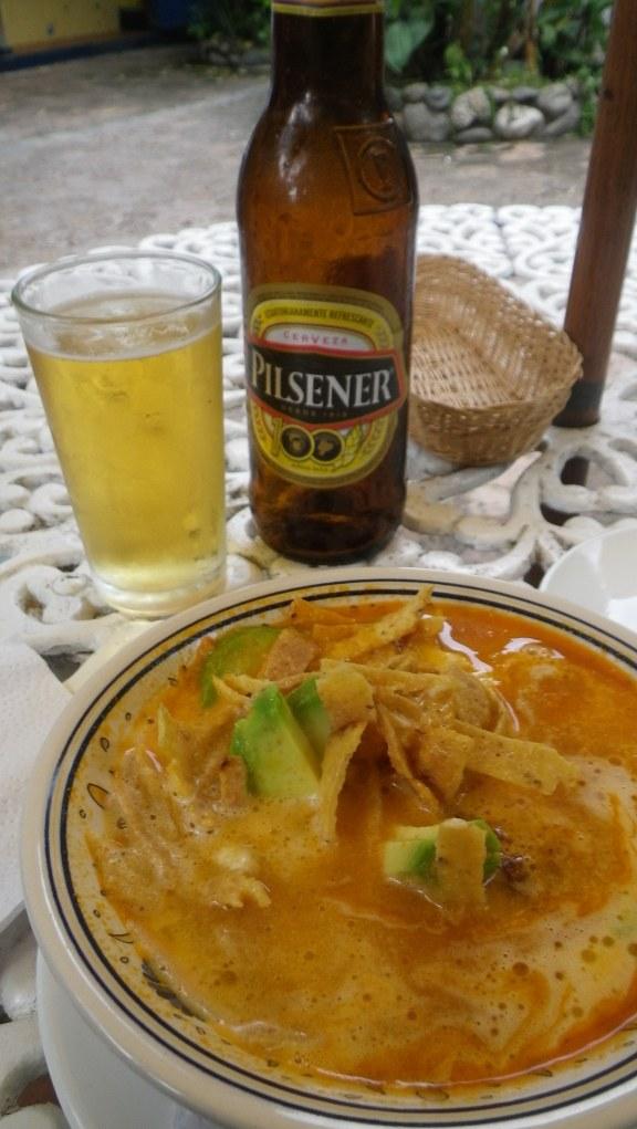 Lovely Mexican tortilla soup in Ecuador