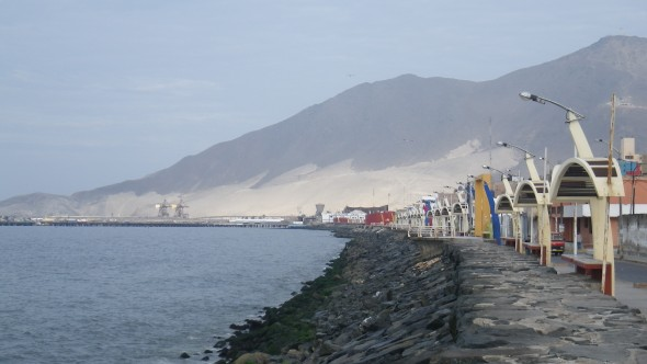 The coast in Chimbote