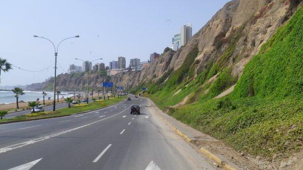 Lima coastline
