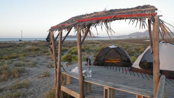 Brilliant camping spot near the coast