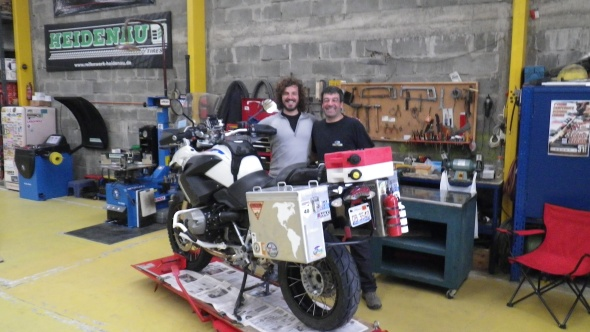 Alejandro. great mechanic where I got my new front tire from in Punta Arenas