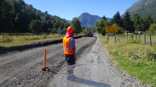 Chile seems to be doing roadworks on every single kilometer of its roads...