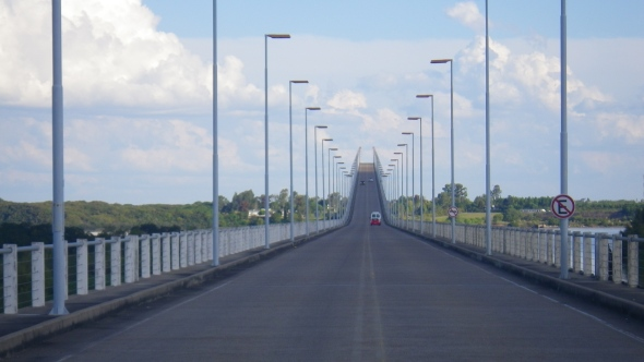 Bridge crossing into Uruguay