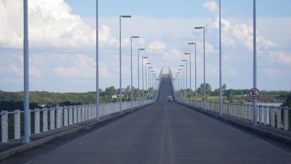 Bridge crossing into Uruguay