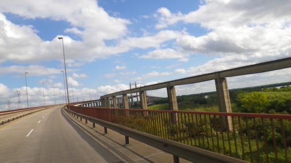 One of the suspension bridges en-route to Buenos Aires